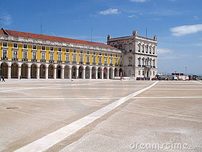 Lisbon commerce square