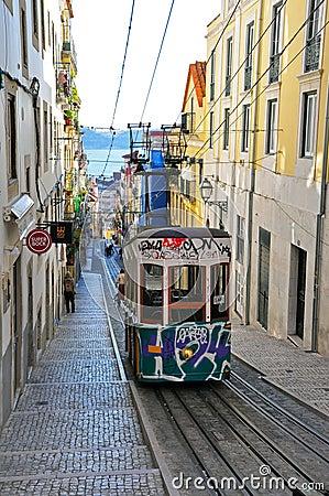 Lisbon funicular Editorial Photography