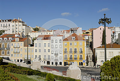 Lisbon Historic Buildings - Steps to the Parliament