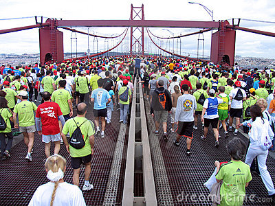 Lisbon Marathon Editorial Stock Image