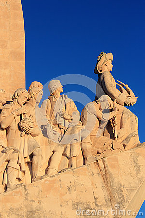 Lisbon, Monument Portuguese voyages of Discovery Editorial Stock Photo