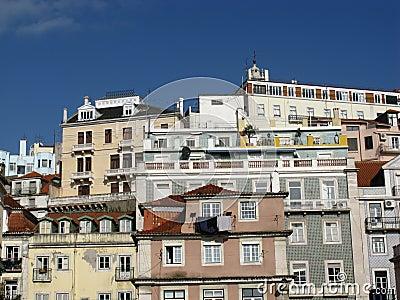 Lisbon opposite a blue sky