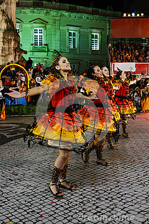 Free Lisbon Popular Parade Festivities, Old Neighbourhoods Stock Photography - 79937392