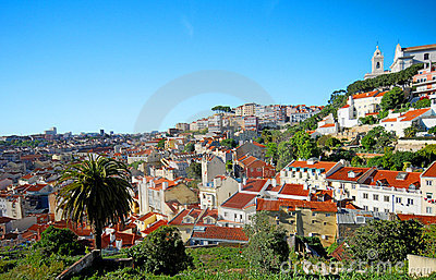 Lisbon Portugal hillside