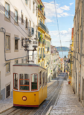 Free Lisbon S Gloria Funicular, Portugal Stock Images - 21686744