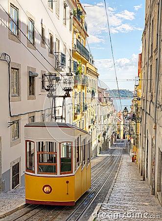 Lisbon s Gloria funicular, Portugal