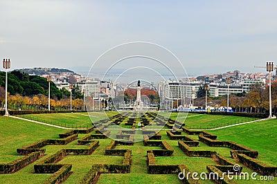 Lisbon skyline Editorial Stock Image