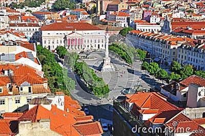 Lisbon skyline Editorial Image