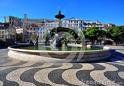 Lisbon square, Portugal Editorial Photo