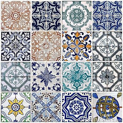 Free Lisbon Tiles Royalty Free Stock Photo - 19131115