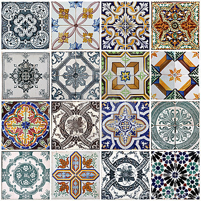 Free Lisbon Tiles Stock Images - 19901934