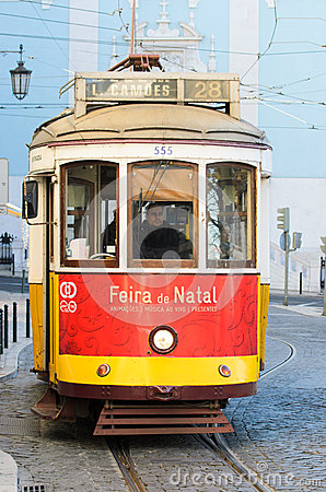 Lisbon tram Editorial Photography