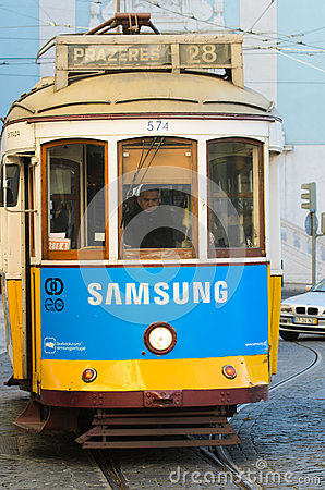 Lisbon tram Editorial Stock Photo
