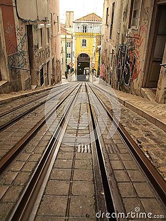 Lisbon tram railway