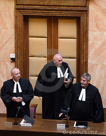Lisbon treaty on Czech Constitutional Court Editorial Stock Photo