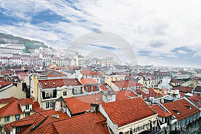 Lisbon, view to the Alfama