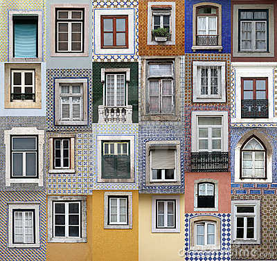 Free Lisbon Windows Royalty Free Stock Photography - 19291267