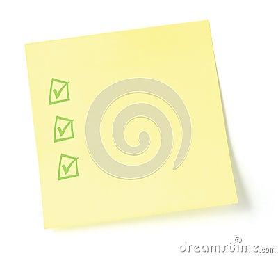 Lista di To-Do in bianco con le caselle di controllo