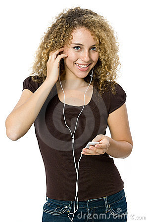Free Listening To An MP3 Player Stock Photo - 5072850