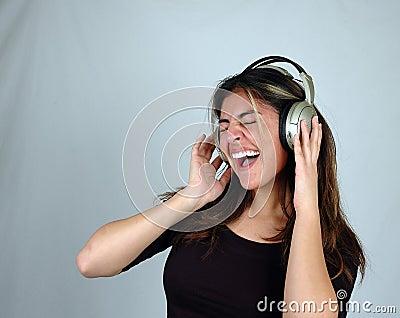 Listening to music-10