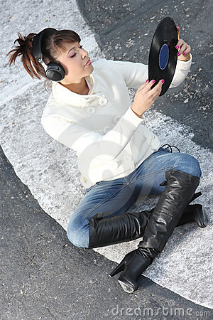 Listening to the music on the street