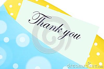 Listowa notatka dziękować ty