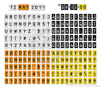 Listów liczb symbole