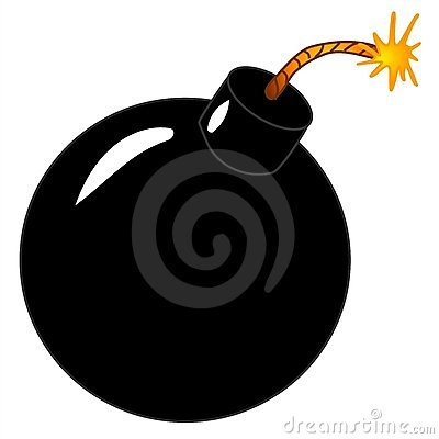 Lit Black Round Bomb Clip Art
