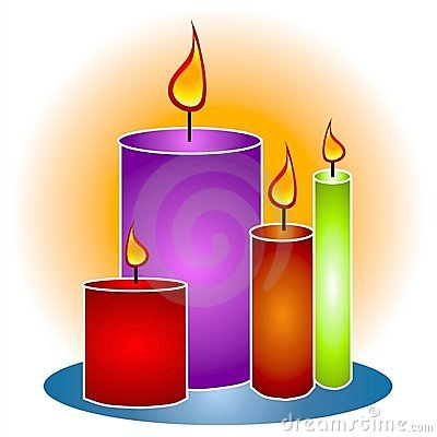 Lit Decorative Candles Clipart