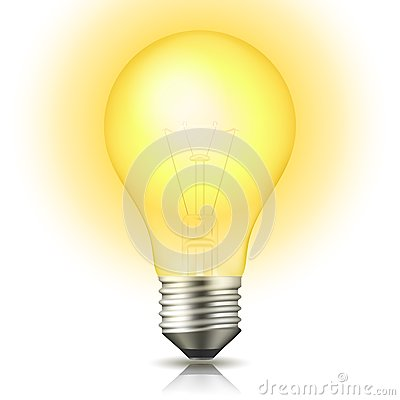 Free Lit Light Bulb Royalty Free Stock Photos - 27281548