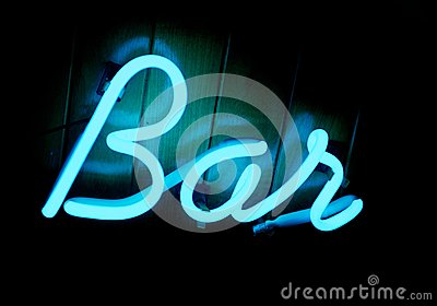 Lit Neon Bar Sign