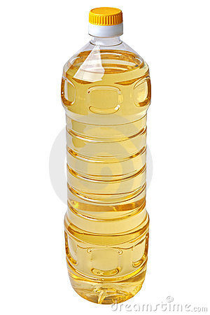 Liter bottle of vegetable oil