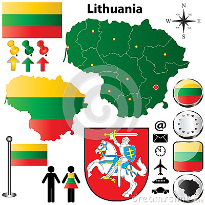 Lithuania Map Stock Photography - Image: 28760762