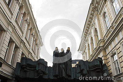 Lithuanian National Drama Theatre in Vilnius Editorial Stock Image