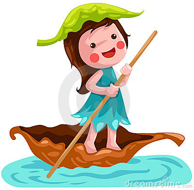 Free Litlle Fairy Sailing Leaf Boat Royalty Free Stock Photos - 16933968