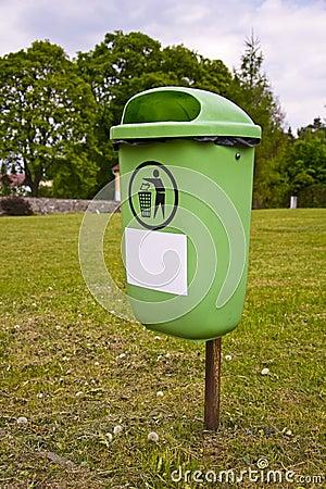 Litter Bin in Park