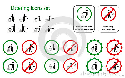 Littering icons