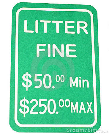 Littering Sign
