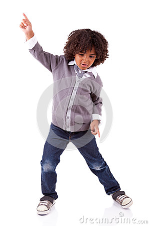 Little African American Boy Dancing Stock Photos Image