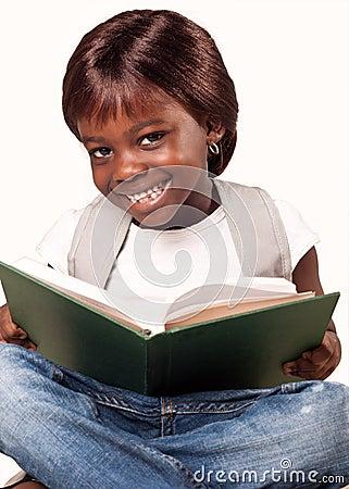 Little african school girl