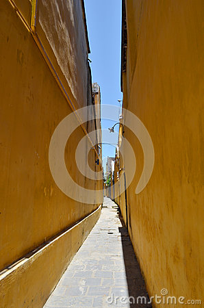 Free Little Alley In Hoian 4 Royalty Free Stock Photography - 25582917