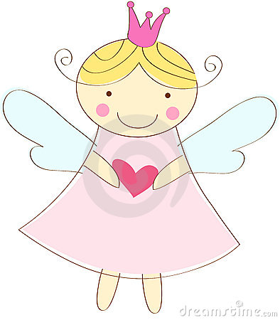 Free Little Angel Greeting Card Royalty Free Stock Photos - 24261538