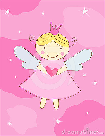 Free Little Angel Greeting Card Royalty Free Stock Photography - 24415267