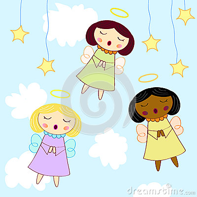 Free Little Angel Greeting Card Stock Photography - 25009862