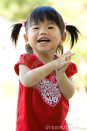 Little Asian Chinese baby girl