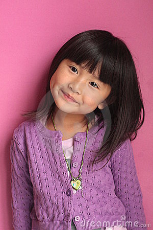Free Little Asian Girl Poseing Royalty Free Stock Images - 14455939