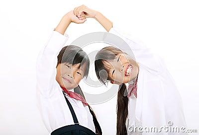 Little asian schoolgirls