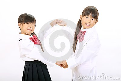 Little asian schoolgirls