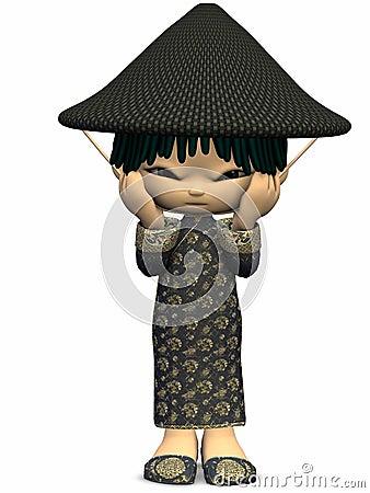 Little Asian-Toon Figure