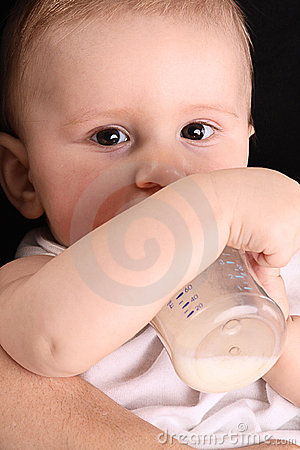 Little baby drink milk